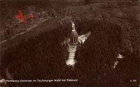 Detmold in Nordrhein Westfalen, Fliegeraufnahme, Hermanns Denkmal