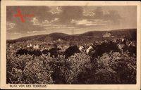 Bad Suderode im Harz, Blick von der Terrasse auf die Ortschaft