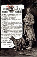Credo du Poilu, Credo des Tranchées, Franz. Sanitäter, Sanitätshund, Eid