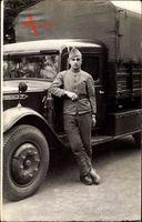 Frankreich, Poilus, Franz. LKW Fahrer, Uniform, Renault
