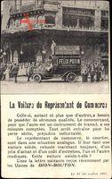 La Voiture du Relrésentant de Commerce, Usines de Dion Bouton, Félix Potin