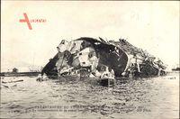 Catastrophe du Cuirassé Liberté, 25 Sept 1911, Schiffswrack, Kriegsschiff