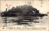 Catastrophe du Liberté, 25 Sept 1911, Les Épaves, Schiffswrack