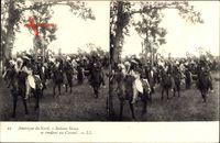Amérique du Nord, Indiens Sioux se rendant au Conseil, Indianer