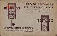 Blanrido, Netasec, La Blanchisserie de Rideaux,Paris 12e,Rue du Colonel Oudot