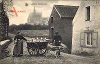 Laitière flamande, Flämisches Milchmädchen, Zughund, Belgien