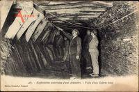 Exploitation souterraine dune Ardoisière, Visite dune Galerie boisée