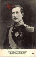 König Albert I. von Belgien, Portrait, Erster Weltkrieg 1914