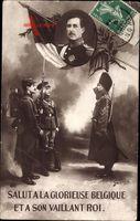 König Albert I. von Belgien - einen Salut an das glorreiche Belgien und seine tapferen König um 1914