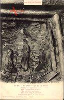 Au Pays Noir, Le Bourrage de la Mine, Bergbau unter Tage, Dynamit