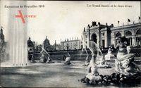 Brüssel, Expo Weltausstellung 1910, Grand Bassin et le Jeux deau
