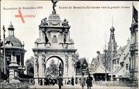 Brüssel, Expo Weltausstellung 1910, Entrée de Kermesse, Grande Terasse