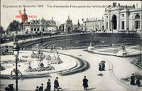 Brüssel, Expo Weltausstellung 1910, Vue densemble, Jardin de la Ville
