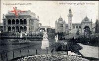 Brüssel, Expo Weltausstellung 1910, Jardin Francais, Pavillons