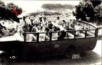 Monte Carlo Monaco, Reisebus, Blick herab zum Ort, 28 Août
