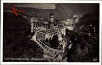 Balduinstein Rheinland Pfalz, Fliegeraufnahme von Schloss Schaumburg