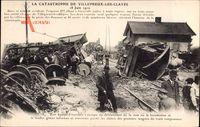 Villepreux les Clayes Yvelines, Catastrophe, 18 Juin 1910, Eisenbahnunglück