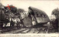 Bernay Eure, Catastrophe, 10 Sept 1919, Débris de Wagons, Eisenbahnunglück