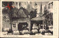 Dresden, Zum Storchennest, Winkelkrug, Innenansicht, Wandbild