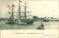 Bordeaux Gironde, bateaux Morutiers en rade, Fischerboot im Hafen