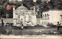 Chandernagor Indien, La Mosquee, Blick auf eine Moschee, Inder