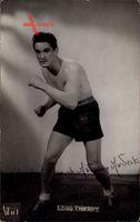 Französischer Boxer Louis Thierry, mit Autogramm
