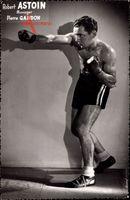 Französischer Boxer Robert Astoin, Manager Pierre Gandon