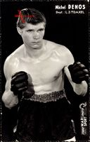 Französischer Boxer Michel Denos, Prof. L. J. Traxel, Boxhandschuhe