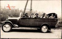 Reisebus mit offenem Verdeck, Pilgerfahrt Lourdes, Garage H. Escale