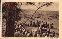 Les Scouts de France, la Messe au Camp, Pfadfinder beim Gottesdienst