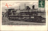 Französische Eisenbahn, Le Creusot, Usines Schneider, P. L. M., Dampflok