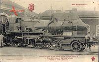 Französische Eisenbahn, P. L. M., C 155, Locomotive, Dampflok