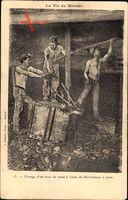 La Vie du Mineur, Forage dun trou de mine à laide du Perforateur à main