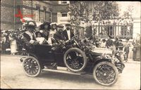 Frankreich, Automobil, Blumenbeschmückt, Passagiere