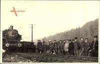 Frankreich, Eisenbahn, Chemin de Fer, Gleisbau, Dampflok