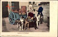 Belgien, Laitière de Brabant, Milchmädchen, Zughunde