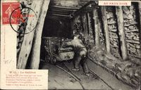 Au Pays Noir, Le Galibot, Kohleabbau unter Tage, Abtransport