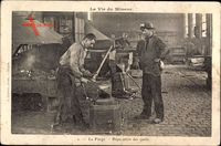 La Vie du Mineur, La Forge, Réparation des outils, Pickel wird repariert