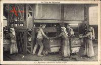 La Vie du Mineur, Moulinage, Recette du charbon au jour, Kohlearbeiter