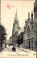 Paris, La Rue Las Cases et lEglise Sainte Clotilde