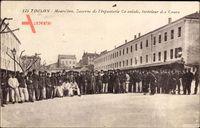 Toulon Var, Mourillon, Caserne de lInfanterie Coloniale, Intérieur des Cours
