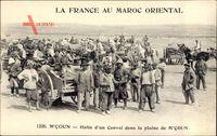 Mcoun Marokko, Halte dun Convoi dans la plaine