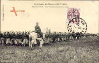 Casablanca Marokko, Le 4e Zouaves attendant la Revue