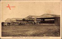 Camp de Mourmelon Marne, Les nouveaux hangars et un coin de la piste