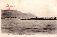 Toulon Var, La Rade, Sous marin en marche, U Boot, Levy & Fils