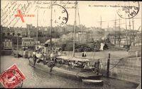 Granville Marne, Torpilleur dans le bassin, Torpedoboot im Hafen