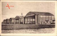 Bourget Savoie, Aéroport, Les Hangars Bessoneaux en ciment armé