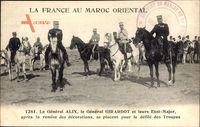 Marokko, Le Général Alix et Girardot et leurs Etat Major
