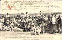 Oudja Marokko, Groupe du 2me Bataillon du 2me Zouaves au camp