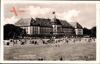 Sopot Gdańsk Zoppot Danzig, Blick auf das neue Kasino Hotel, Strand
